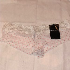 RAMPAGE - size medium lace and sheer boy short!